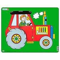 Пазл-вкладыш Трактор, серия МАКСИ, Larsen