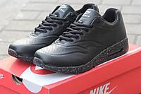 Мужские кроссовки Nike Airmax 87, пресс кожа, черные / бег кроссовки мужские Найк Аирмакс 87, удобные