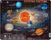 Пазл-вкладыш, Солнечная Система (на украинском языке), серия МАКСИ, Larsen