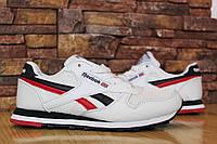 Женские кроссовки reebok classic белые с красным