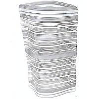 Ваза складная пластиковая прямая широкая 18х27,5 см