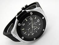Мужские часы HUBLOT - GENEVE Silver, кожаный с каучуком ремешок