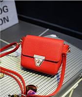Женская класическая красная сумка