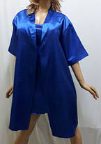 """Атласный халат с рубашкой, """"Королева ночи"""", фото 3"""