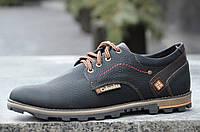 Туфли кожаные Columbia реплика мужские модельные черные 43