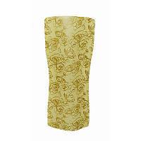 Ваза складная пластиковая с вогнутыми боками узкая Розы на желтом12х27,5 х12см