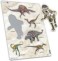 Пазл-вкладыш, Динозавры, серия МАКСИ, Larsen