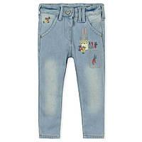 Весенне-осенние модные утепленные джинсы для девочки от 1года до 8 лет (разм. 80-130) ТМ Little Maven