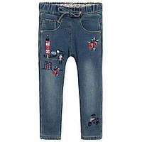 Весенне-осенние утепленные джинсы для девочки от 1 года до 8 лет (разм. 80-130) ТМ Little Maven