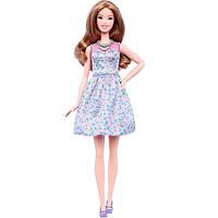 Barbie  Барби Модница высокая в Лиловом платье с цветочками Fashionistas 12 Inch Doll Caucasian TALL (DVX75)