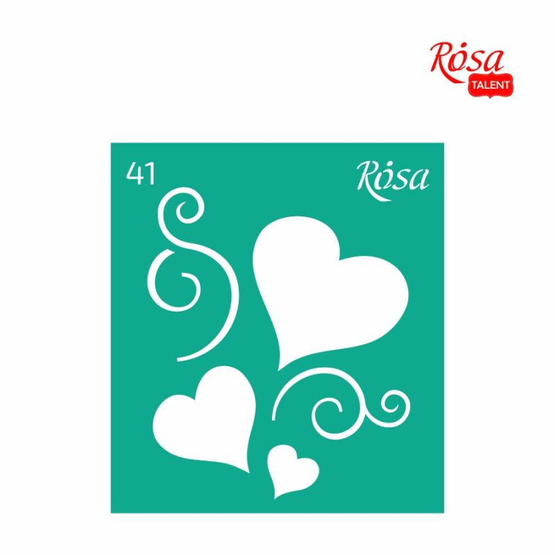Трафарет многоразовый самоклеящийся, 9*10 см, № 41, ROSA Talent, 3625141