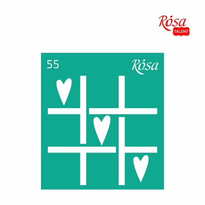 """Трафарет многоразовый самоклеящийся, 9*10 см, """"Love"""", № 55, ROSA Talent, 3625155"""
