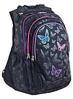 Рюкзак подростковый ортопедический школьный ТМ 1 Вересня T-27 3 Butterfly