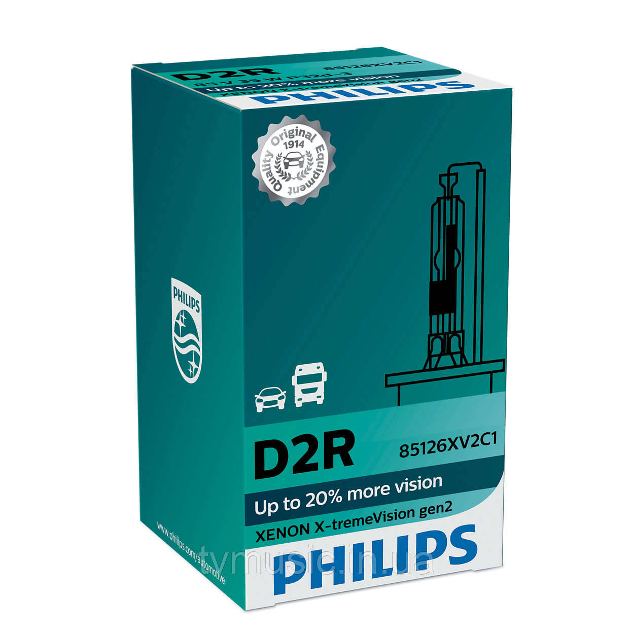 Ксеноновая лампа Philips Xenon X-treme Vision gen2 D2R 85V 35W (85126XV2C1)