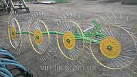 Грабли-ворошилки Agromech тракторные (на 4 секции) Польша