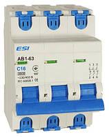Модульный автоматический выключатель 4,5 кА, 3п, 40А, х-ка С