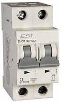 Модульный автоматический выключатель EMCB.602C6, 6кА, 2п, х-ка С, 6А