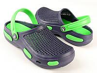 Кроксы, сабо синие / зеленая середина. Размеры 36/37, 38/39, 40/41, 42/43, 44/45,46/47. Jose Amorales 535/555.