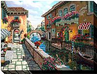 """Набор для вышивки бисером на хлопковом холсте пейзаж """"Лето в Венеции"""""""