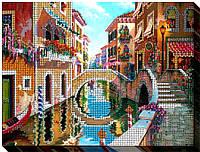 """Набор для вышивки бисером на хлопковом холсте пейзаж """"Лето в Венеции-2"""""""