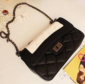Женская сумочка арт 8706 молоко+черн