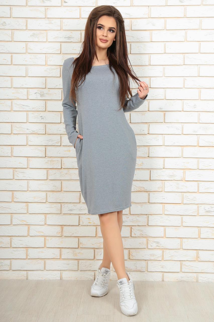 Модное молодежное платье с карманами