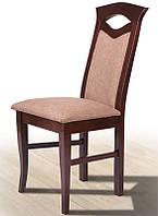 Стул деревянный с мягким сиденьем и спинкой Милан, темный орех, ткань Luiziana-5 в1000 х  г410 х  ш470 мм
