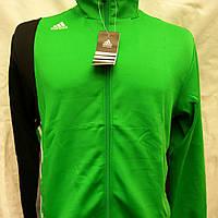 Спортивный костюм мужской из эластика Adidas зеленого цвета