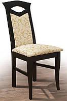 Стул деревянный с мягким сиденьем и спинкой Милан, темный венге, ткань Флори беж в1000 х  г410 х  ш470 мм