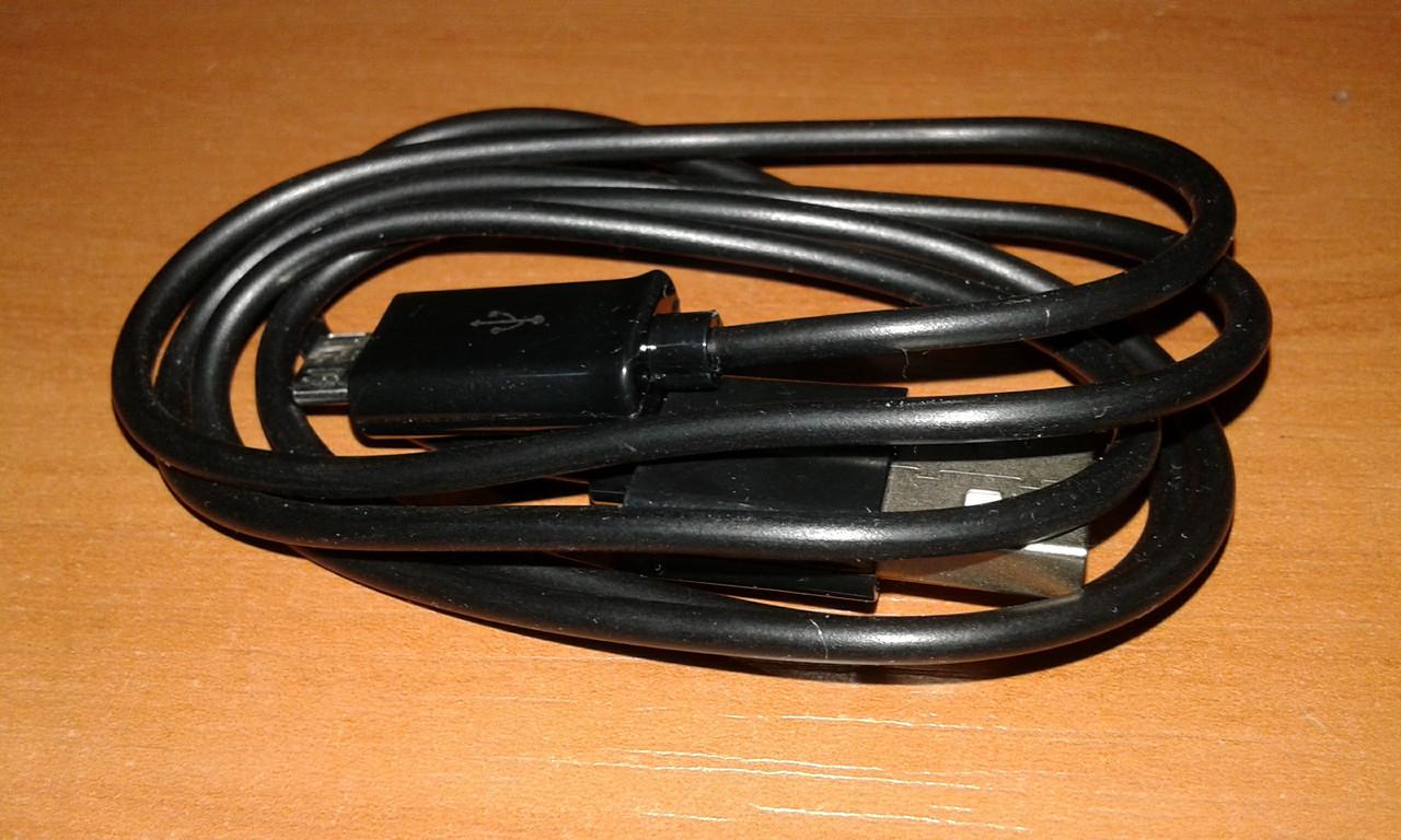 Универсальный кабель usb - microusb 1 метр черный