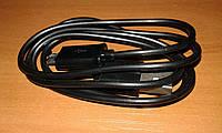 Универсальный кабель usb - microusb 1 метр черный, фото 1