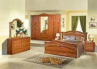 Спальня Сорая четырех, шести дверный шкаф, прикроватные тумбы, комод, зеркало,кровать без матраса
