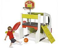 """Игровой центр  """"Активные игры """" с баскет. корзиной, фут. воротами,горкой 150см, 284x203x176 см, 2+"""