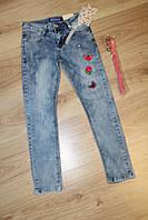 Стильные детские и подростковые джинсы с вышивкой