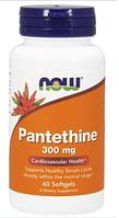 Пантетин, Now Foods, Pantethine, 300 mg, 60 Softgels