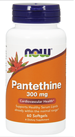 Пантетин, Now Foods, Pantethine, 300 mg, 60 Softgels