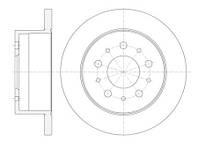 Тормозной диск задний Roadhouse RH 61120.00 для Peugeot Boxer Фургон (244) 04.2002+