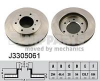 Тормозной диск передний Nipparts J3305061 для Mitsubishi L 200 / Triton (KbT, KaT) 04.2010+