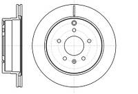 Тормозной диск задний Roadhouse RH 61182.10 для Opel Antara 12.2010+
