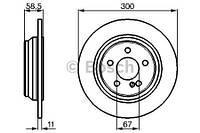 Тормозной диск задний Bosch 986478472 для Mercedes S-Class (W220) 06.2000-08.2005