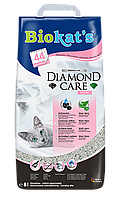 Наполнитель Gimpet Biokat's Diamond Care Fresh для кошек с древесным углем, 8 л