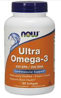 Ультра омега, Now Foods, Ultra Omega -3, 180sgel