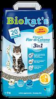 Наполнитель Gimpet Biokat's Fior de Cotton 3in1 для кошек глиняный, 5 кг