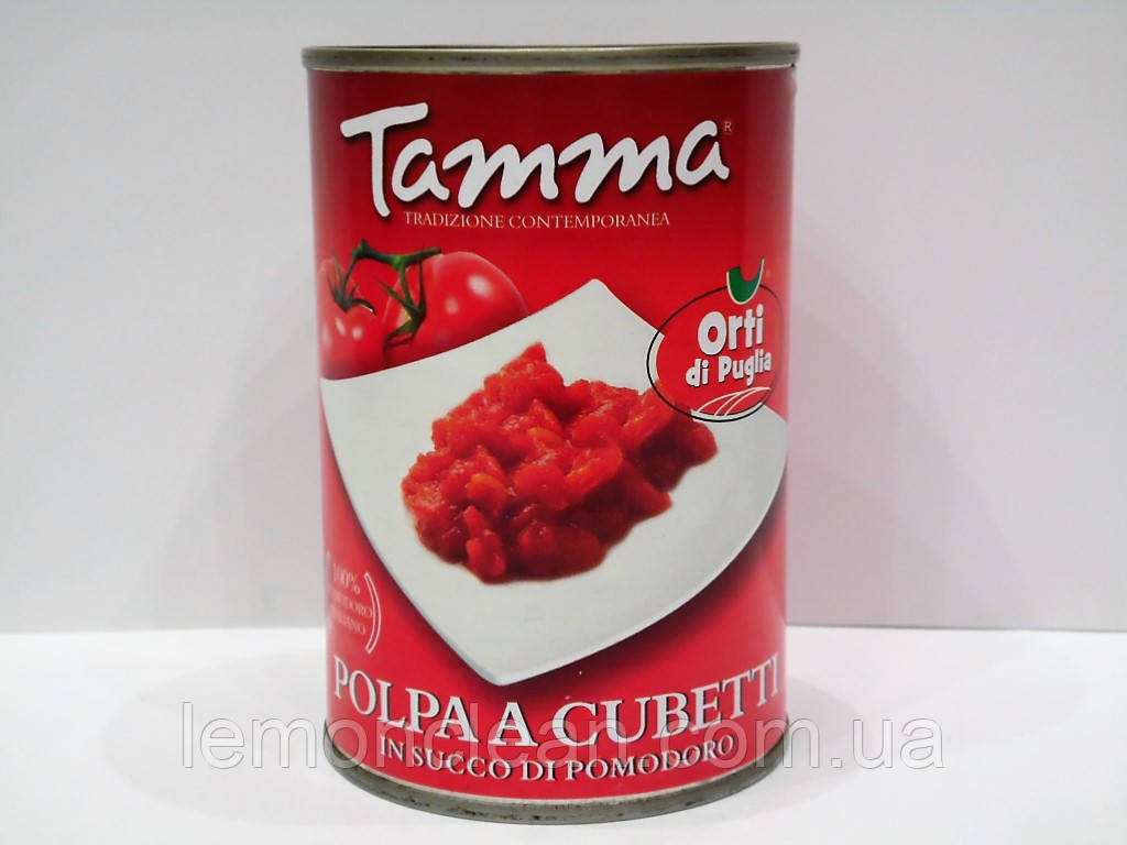 Томаты Tamma нарезанные в томатном соку 400г