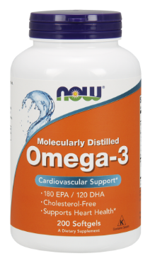 Риб'ячий жир, Омега 3, Now Foods, Omega-3, (1000mg) 200sgel