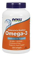 Рыбий жир, Омега 3, Now Foods, Omega-3, (1000mg) 200sgel