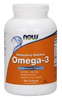 Рыбий жир Омега 3, Now Foods,Omega-3, 1000mg, 500sgel