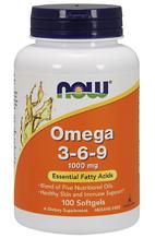 Омега кислоты, Now Foods, Omega 3-6-9, 1000mg, 100sgel