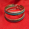Сережки кольца с разноцветной серединой , фото 5