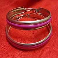 Сережки кольца с разноцветной серединой